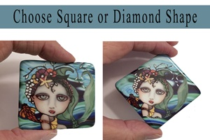 2 inch Square and Diamond Cabochons