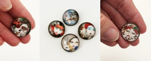 Painted Lady Shank Buttons