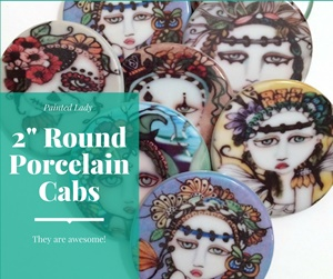 2 inch Round Porcelain Cabochons