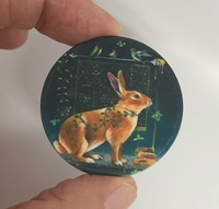 Mystical Rabbit 1.5 inch matte
