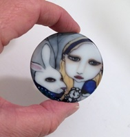 Alice In Wonderland 2 inch round cab