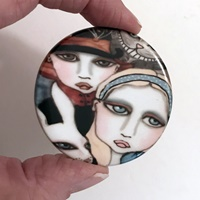 Alice and Friends 2 inch round