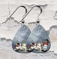 Alice and The Tea Party Guitar Pick Earrings