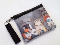 Alice and the Tea Party Zippered Bag