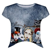 Alice In Wonderland Cropped T-Shirt