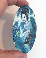 Asian Blue long oval