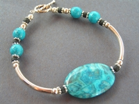 Blue Crazy Lace Bracelet
