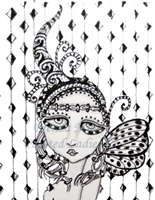 Day at the Circus Painted Lady Coloring Page