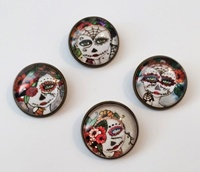 Day Of The Dead Shank Buttons