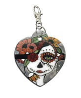 Day Of The Dead  Zipper Pull Purse Charm