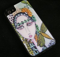 Girl with a dragonfly tattoo IPhone Case