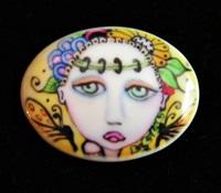 Fairy Garden Porcelain Cameo