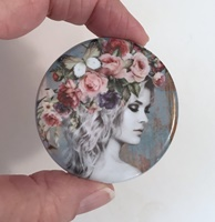 Flower Girl and Butterfly 2 inch round
