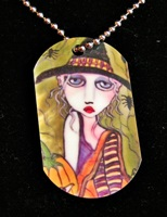 Friends Of The Night Dog Tag Necklace