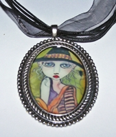 Friends Of The Night Beaded Cameo Necklace