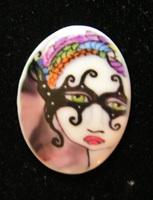 Halloween Masquerade Ball Cabochon