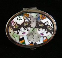 Halloween Twins Compact Mirror