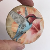 "Hummingbird peach 2"" round"