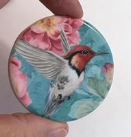 "Hummingbird blue 2"" round"
