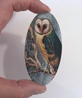 Barn Owl large oval