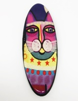 Funky Cat two long oval