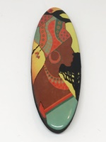 African Beauty Two Long Oval