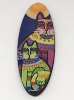 Funky Cat Three long oval