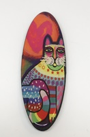 Funky Cat Four long oval