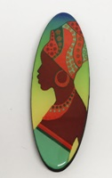 African Beauty Four long oval
