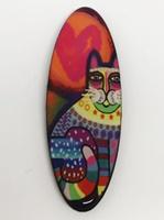 Funky Cat Six long oval