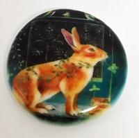 Mystical Rabbit 2 inch round
