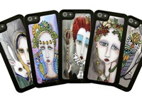 Painted Lady Interchangeable Inserts Phone Case 4, 4s, 5s