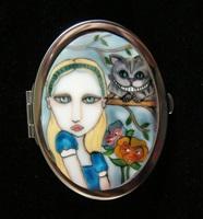 In Wonderland Compact Mirror