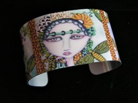 Ladies and Dragonflies Cuff Bracelet
