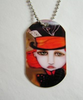 Mad Hatter Dog Tag Necklace
