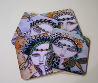 Enchanting Painted Lady Coasters