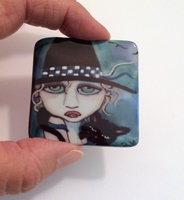 Peppy 2 inch Square Cabochon