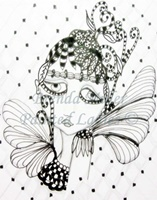 Petals Painted Lady Coloring Page