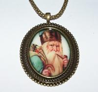Santa 5 Cameo Necklace