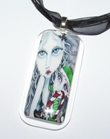 Secret Santa Glass Necklace