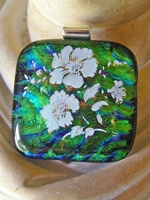 Tropical Bouquet Dichroic Glass Pendant