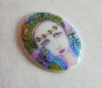 Wise Ones Porcelain Art Cameo Cabochon