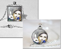 Alice and the White Rabbit Necklace