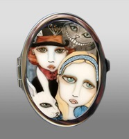 Alice and Friends Compact Mirror