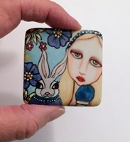 Alice and Garden Rabbit 2 inch Cab