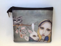 Alice In Wonderland and White Rabbit Cosmetic Bag