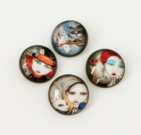 Alice In Wonderland Shank Buttons