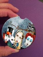 Alice In Wonderland Car Coaster