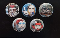 Alice In Wonderland 1 Inch Magnets