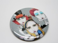 Alice and The Tea Party Button
